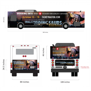 Walking With Dinosaurs Bus Wrap
