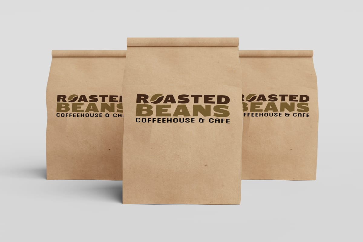 Bags of Coffee with Coffeehouse Logo