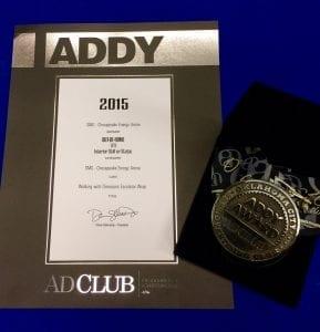 Silver ADDY Award for WWD Escalator Wrap