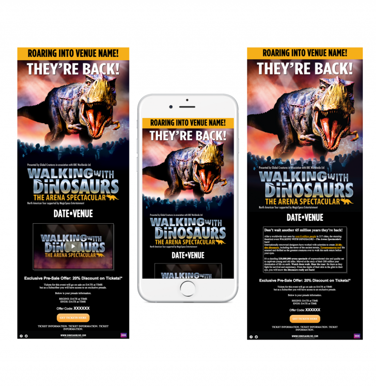 Walking with Dinosaurs Email Mock-Up