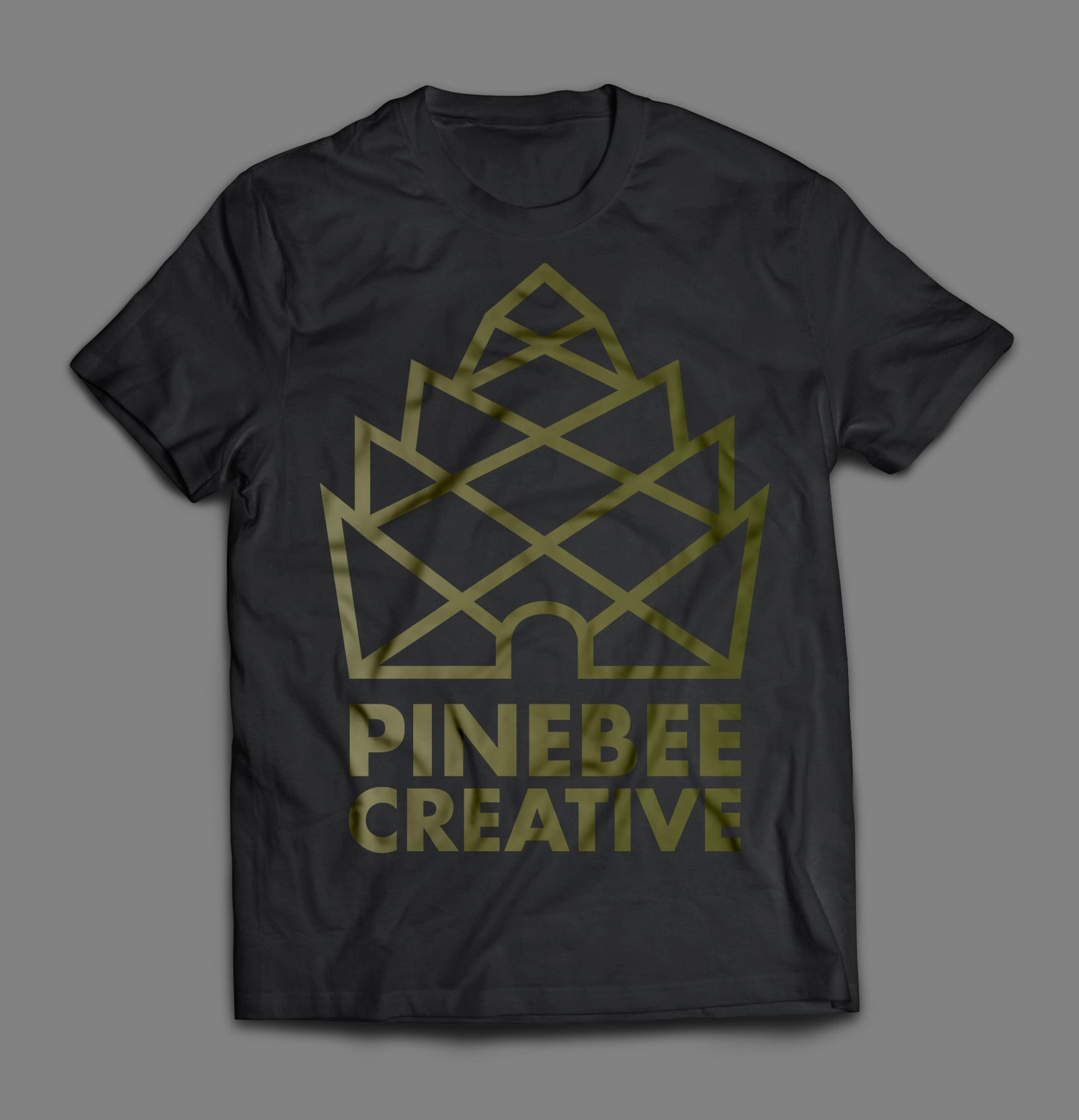 Promotional Shirt with Pinebee Creative Logo
